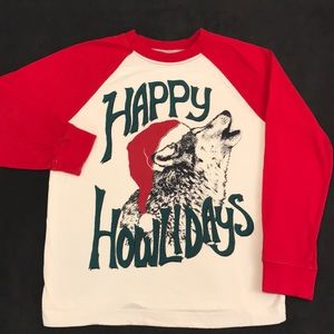 💐 5/$25 Gymboree Happy Howlidays shirt 7/8